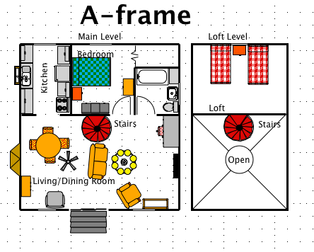 A frame house style a free macdraft floor plan for the mac for A frame style house