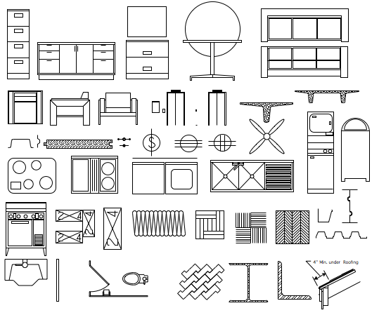 comprehensive set of over 1100 commonly used symbols for the creation of