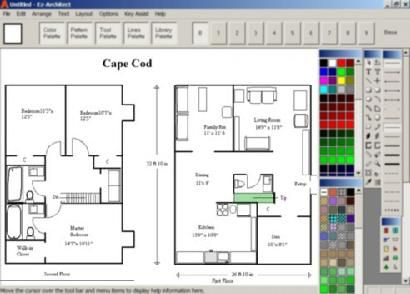 Ez architect for windows 7 and 8 and 10 and vista Home drafting software free
