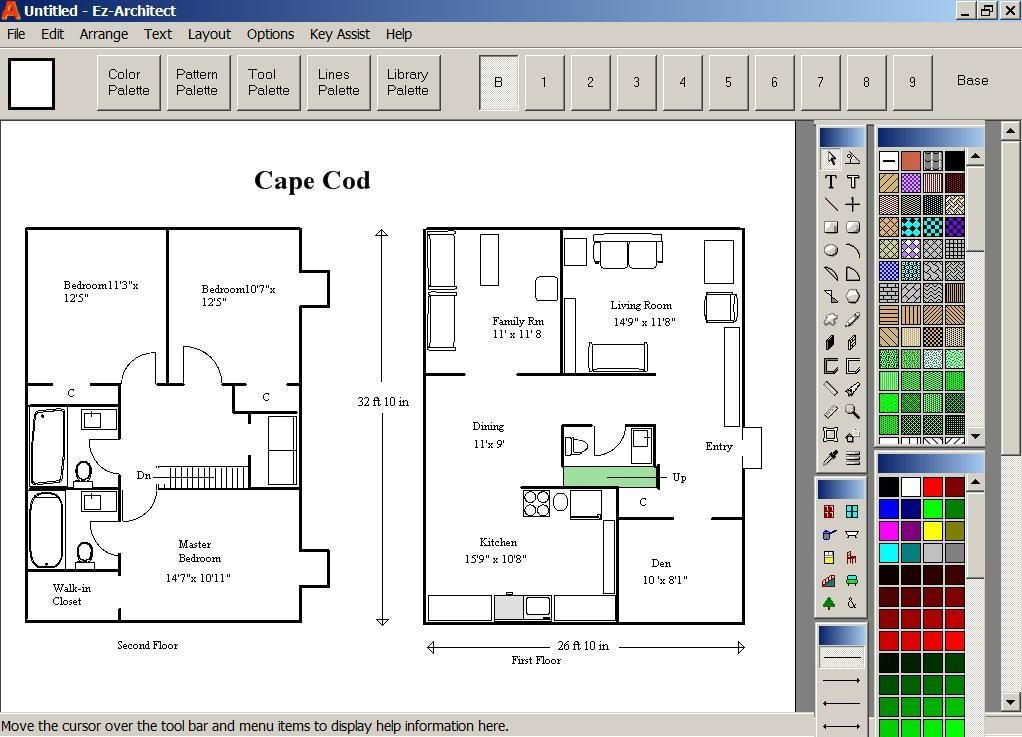 Latest Free Floor Plan Downloads: house construction design software free