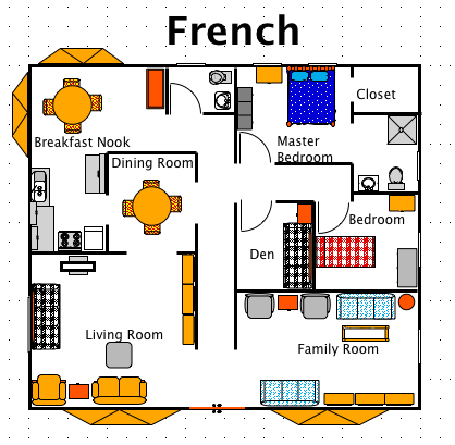 Ez Architect French on Frame A Small House Interior