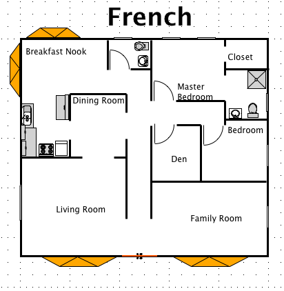 french house style a free macdraft floor plan for the mac