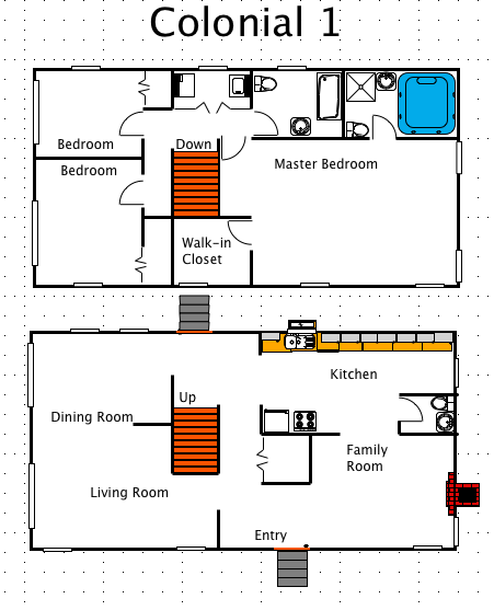 Colonial house style a free ez architect floor plan for Colonial style homes floor plans