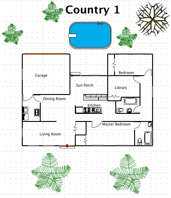 country house style a free ez architect floor plan for windows - Country House Floor Plans