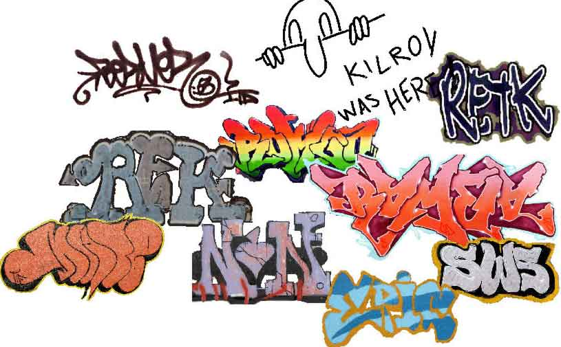 Graffiti plug-in—Over 50 Graffiti Images Scaled Down to Add to