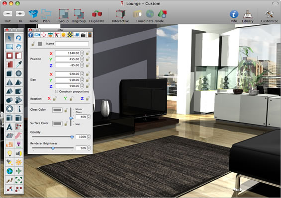 Interiors professional mac os x home design software for Professional interior decorator