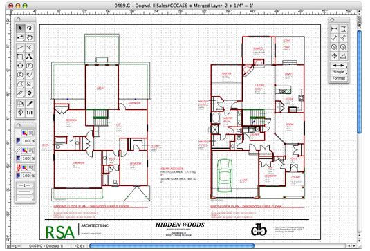 Macdraft professional mac os x home design software for Professional house plans
